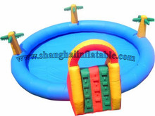High quality Water Game Pool Hot selling PVC used large inflatable adult swimming pool(China)