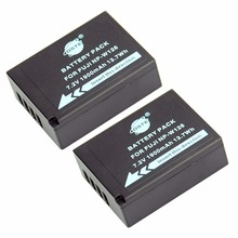 DSTE 2PCS NP-W126 NP-W126S Battery for Fuji HS50 HS35 HS33 HS30EXR XA1 XE1 X-Pro1 XM1 X-T10 Camera