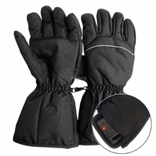 Waterproof Heated Gloves Battery Powered For Motorcycle Hunting Winter Warmer Drop shipping(China)