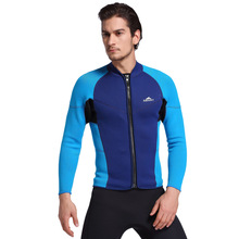 1PC 3mm Active Wet Type Mens Wetsuits Diving Jacket Outerwear Swimwears Rash Guards Surfing Equipment Sailing Clothes 2017 EO