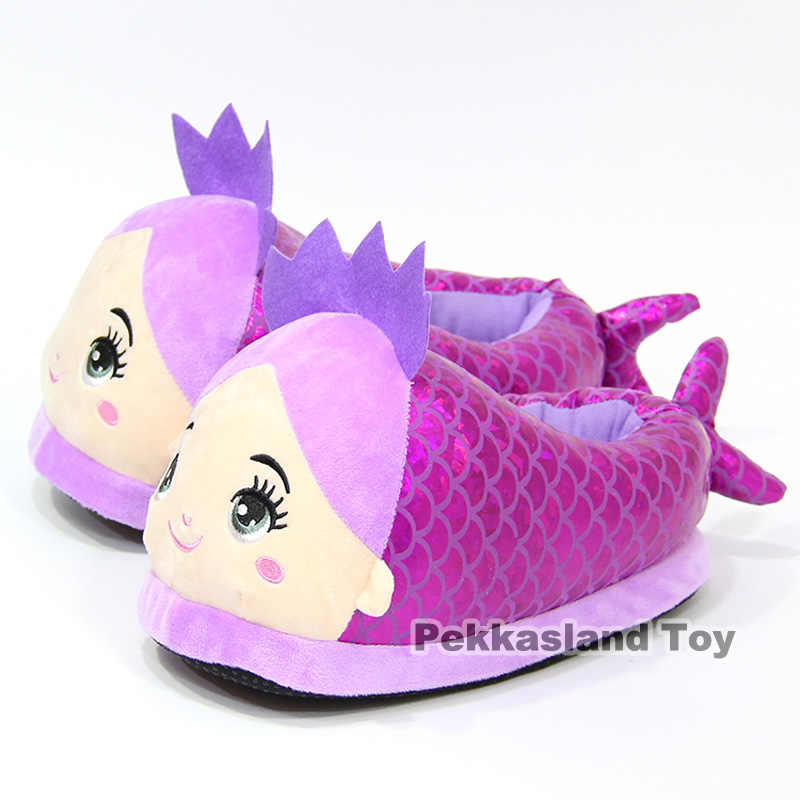 4ef03625576 Ariel The Little Mermaid Plush Slippers Winter Indoor Warm Shoes Soft  Stuffed Toys