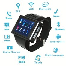 2017 New Arrival Android 4.1.1 WiFi Sports Smart Watch Phone Quadband 2.0 Capacitive Touchscreen GPS, Pedometer, Camera, Apps(China)