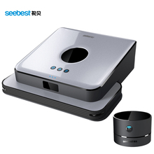 Mini GPS Navigation Wet/Dry Floor Mopping Robot with 7.9cm height Time Water Tank Schedule Seebest A6