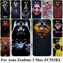 Silicon Plastic Cell Phone Cases For Asus Zenfone 3 Max ZC553KL Covers Zenfone3 Max 5.5 inch Housing Bags Captain American Shell