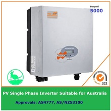 5000W Single Phase Grid Tie Solar Inverter 230VAC transformerless DC to AC on Grid with LCD display IP65 for Australia market