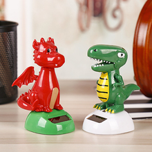 ABS Dinosaur Solar Powered Swinging Shaking Head Car Dashboard Decoration Ornaments Automobile Interior Decor Accessories Toys(China)