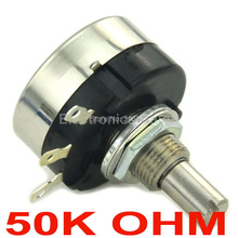 RA25Y20S B503 COSMOS TOCOS 50K OHM 1.2W Panel Mount Rotary Wirewound Potentiometer.(China)