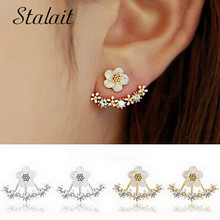 2016 New Earring Jewelry Resin Small Daisy Stud Earring Star Drop Both Sides Wear Bohemia For Girl Gift Women Accessorie