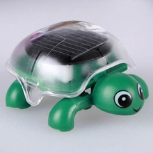 Cute Solar Turtle Powered Energy Tortoise Gadget Gift Educational Toy Walking In The Sun(China)