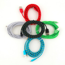 New Free Shipping Sync Data Cable Cord Hemp Rope Micro USB Charger for Cell Phone 3M/10FT Drop Shipping