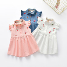 New Summer Baby Girls Cotton Embroidery Dresses Fancy Clothes Fashion Cute Princess Toddler Girls Clothing
