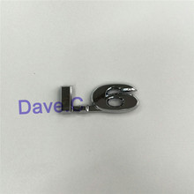 50 Pieces/lot Car 1.6 Custom Emblem ABS Chrome 3D Letter Sticker Tail Badge Nameplate Logo Label