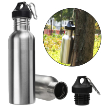 1000 ml Stainless Steel Wide Mouth Drinking Water Bottle Outdoor Travel Sports Cycle Climbing Bottles Portable Kettles(China)