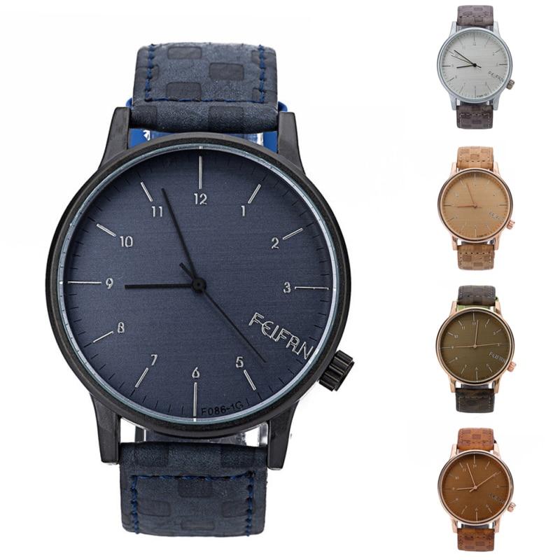 1pc Casual Gifts Exquisite Arabic Numerals Men Boy watches wrist clocks Quartz Analog Wristwatches Relojes Male Idea Watches H5<br><br>Aliexpress