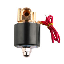 Super Deal 220V AC 1/4 inch Normally Closed Electric Solenoid Valve N/C for Water Air Gas Diesel 2-Way/Position