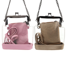 THINKTHENDO Hot Selling Fashion Designer Composite Bags Set Transparent Crossbody Bags Handbag Tote Shoulder Bag For Women(China)