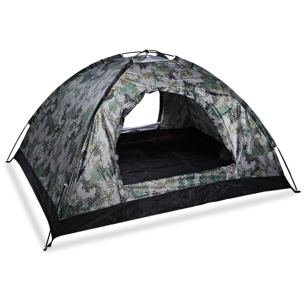 Free Shipping Outdoor Hiking Fishing Hunting Camping Double Layer Tent Camouflage Tabernacle With Carry Bag<br>
