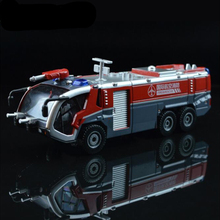Free Shipping  Fireman Sam Kids Toys Fire Truck Car With Music Led For Baby Toys Fire Truck Educational Toyx75