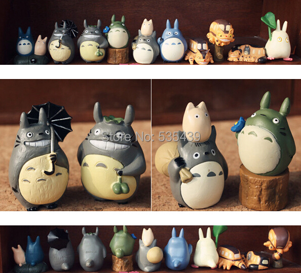 NEW HOT ! 10pcs/set 4-5CM Japanese Cartoon Ha yao Anime Figure My Neighbor Totoro mini figurine Toy Figures<br><br>Aliexpress