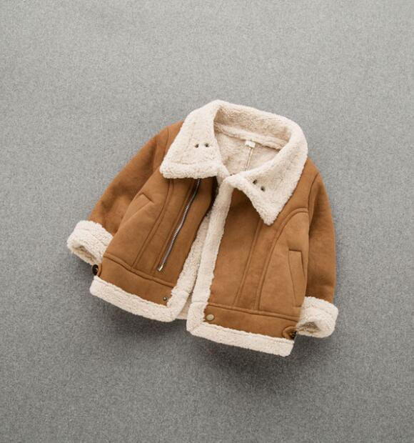 Toddler Baby's Coat In The Winter Of 2018 Boys And Girls  Velvet With Thick Cotton Jacket In The Spring And Autumn Day