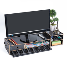 Computer Monitor Riser 21.3 inch 2 Tier Shelves Monitor Stand with keyboard Storage Space