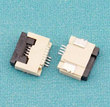 100pcs/lot 1.0mm-4P Down Clamshell Connector FFC FPC 1.0mm Pitch 4 Pin/way Flexible Flat Cable Connector