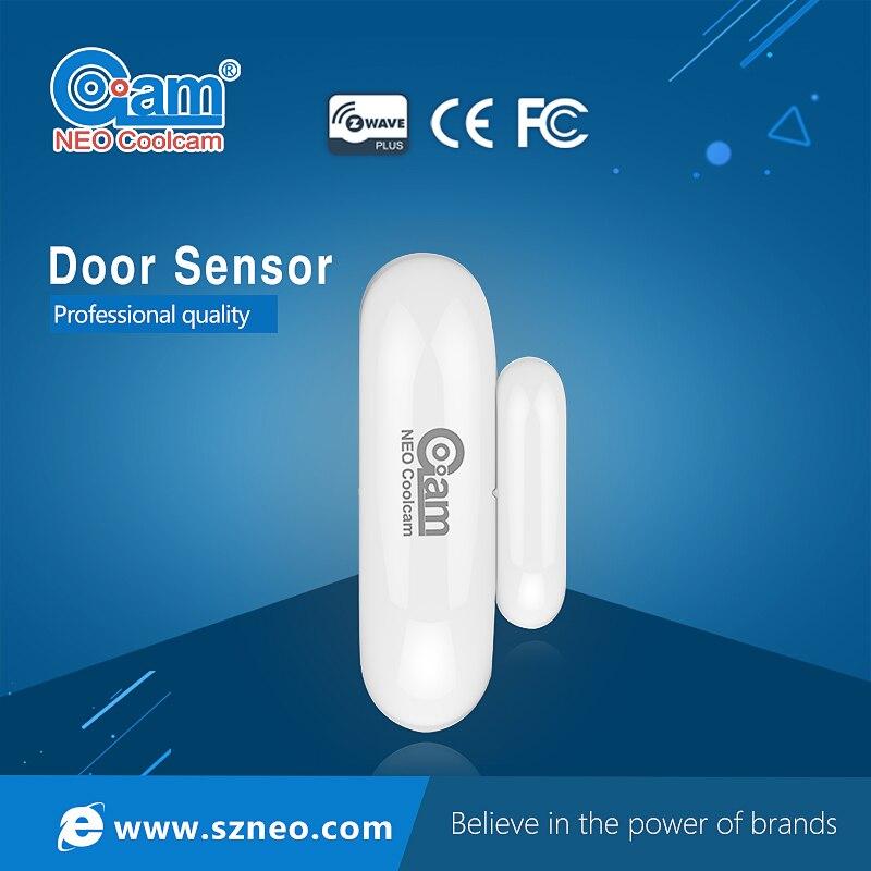 NEO COOLCAM NAS-DS01Z Free Shipping Z-wave Door Window Sensor Compatible with Z Wave 300 500 Series Magnet Door Sensor Alarm<br>