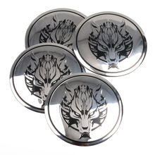 4pcs/ Lot Wolf head logo Car Steering tire Wheel Center car sticker Hub Cap Emblem Badge Decals Symbol For Honda VW Audi BMW