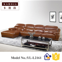 Top quality import kuka leather corner sofa,bedroom set furniture,mobili