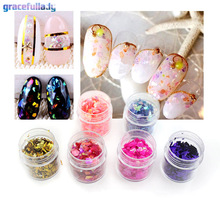 gracefullady 10ml Broken Glass Pieces Foil Tips Nail Art Sticker Manicure Pedicure Decal(China)
