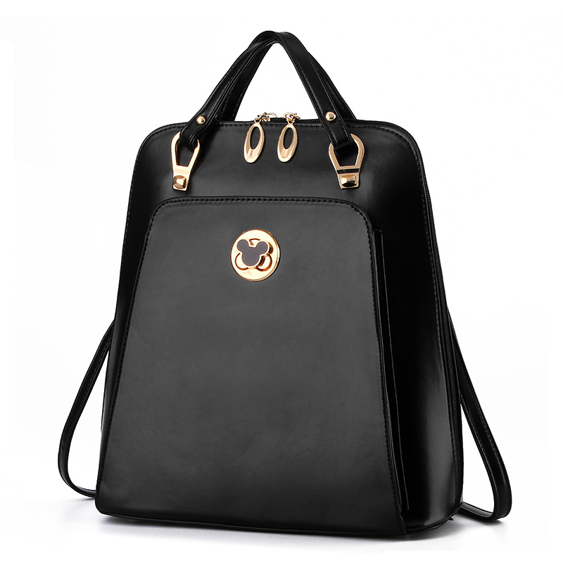 Women Brand Backpack Black Leather Mickey Leather Bags Mochilas Escolares Adolescentes Backpacks For Teenage Girls Back Bag<br><br>Aliexpress