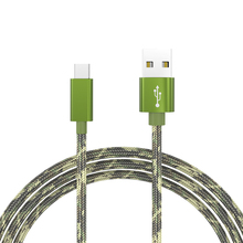 Hot Camouflage Nylon Braided Fast Charging Micro USB Cable USB 2.0 Type-C Date Sync Charge Cable For iphone 6 6s Plus 5s Samsung