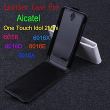 High Quality New Original Alcatel 6016 Leather Case Flip Cover for 6016 X D E A Case Phone Cover In Stock(China)