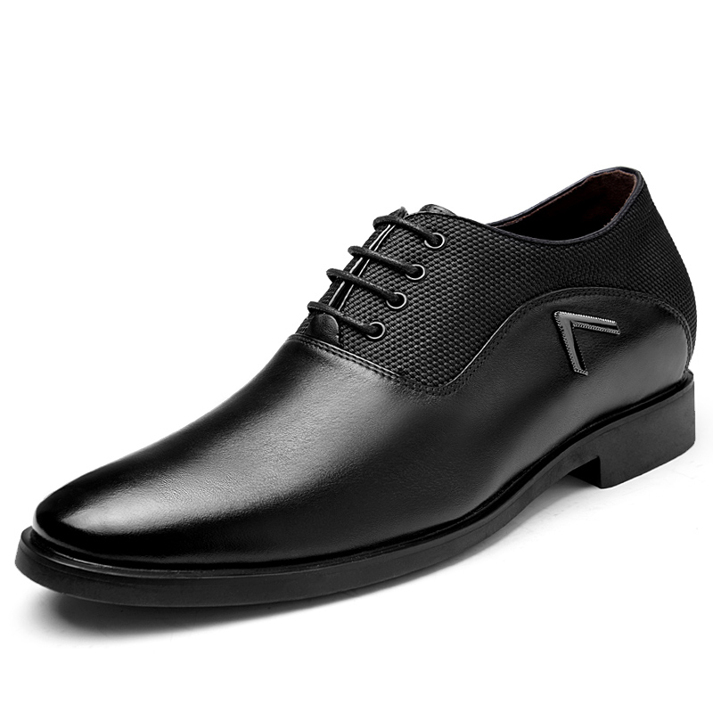 Genuine Leather Heightening Elevated Oxfords Mens Formal Business Wedding Shoes Elevator 6cm<br><br>Aliexpress