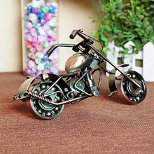 20x8x10cm Antique Harley Motorcycle Model Handmade Metal Craft For Birthday Souvenir Gift Home Decor Shabby Chic Motor Van M9