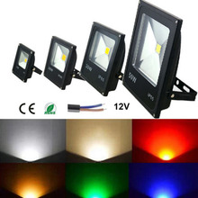10W Storage Battery Light solar flood lights outdoor 10W-50W led flood light DC 12v 20W RGB floodlight 12V