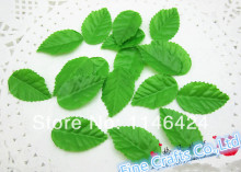 Wholesale Price 200pieces/lot 3.5CM*2CM Artificial Leaf Small Green Leaves For Home Decorations