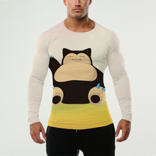 3d Pokemon Snorlax Shirt Men Long Sleeve Go Team Shirts Clothing Pokemon-games T-shirt Camiseta - KYKU Funny Store store