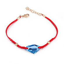 Made with Swarovski Element Luxury Casual Jewellery for Women Fashion Vintage Red Rope Bracelets Genuine Crystal from Swarovski(China)