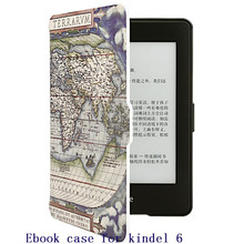 For amazon 2014 new kindle touch  7th generation 6'' E-reader slim protective cover smart case+screen protector+stylus