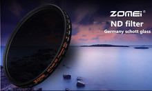 Top UHD Zomei Adjustable 52mm ND Filter ND2 - 400 Germany Schott Glass 18 Layer Coating Oil Soil + Clean Kit for Canon Camera