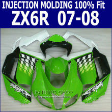 100%Fit For Kawasaki Ninja Fairing kit zx6r 2007 2008 07 08 Injection Fairings Green Customize free S03