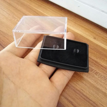 Transparent plastic box gift box for Cufflinks box CLB001