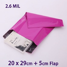 50Pcs Purple Poly Mailer Plastic Envelopes Mailing Bag 20x29cm Postal Shipping Bags Polybag MailBag(China)