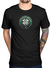 2017 Engraçado Flagelação Molly Shamrock Logo T Shirt Irlandês Punk Rock Indie Dave King Design T Shirt Tops Moda Tees(China)
