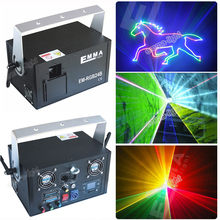 rgb 1500 1.5W SD CARD ILDA DMX Sound Control Animation multi color Laser Light(China)