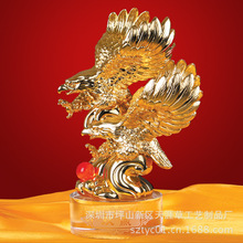 Electroplating factory direct wholesale eagle ornaments resin ornaments car accessories furnishings small win eagle
