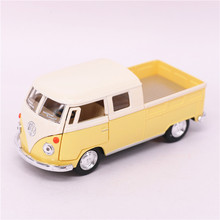 1:34 KINSMART Volkswagen Bus Truck Toy Die cast & ABS 1963 Bus Car Model Doors Openable Cars Models For Boys Kids Toys Juguets(China)