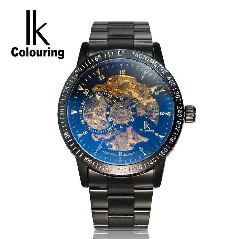 2017 IK Coloring Casual Watches Mens Reloj Hombre Skeleton Dial Auto Mechanical Wristwatch Original Box Free Ship<br><br>Aliexpress