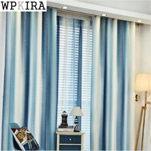 Mediterranean Curtains Living Room Bedroom Small Fresh Cotton Linen Semi-shade Custom Window Curtains Finished Products S133&20